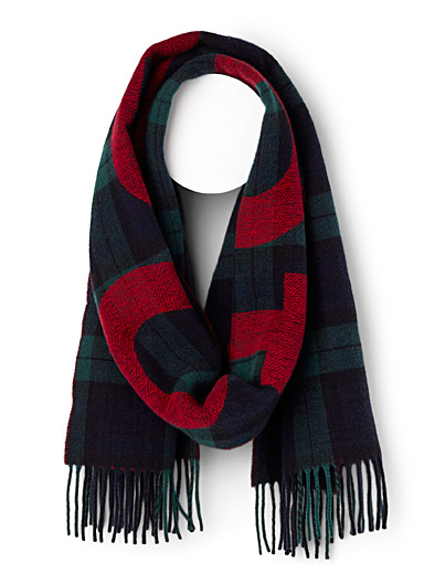 Polo Scottish plaid scarf