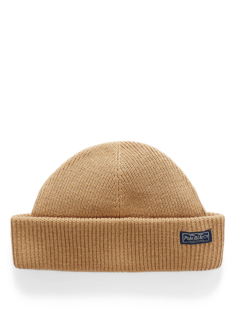 Polo Ralph Lauren Honey Ribbed emblem cropped tuque for men