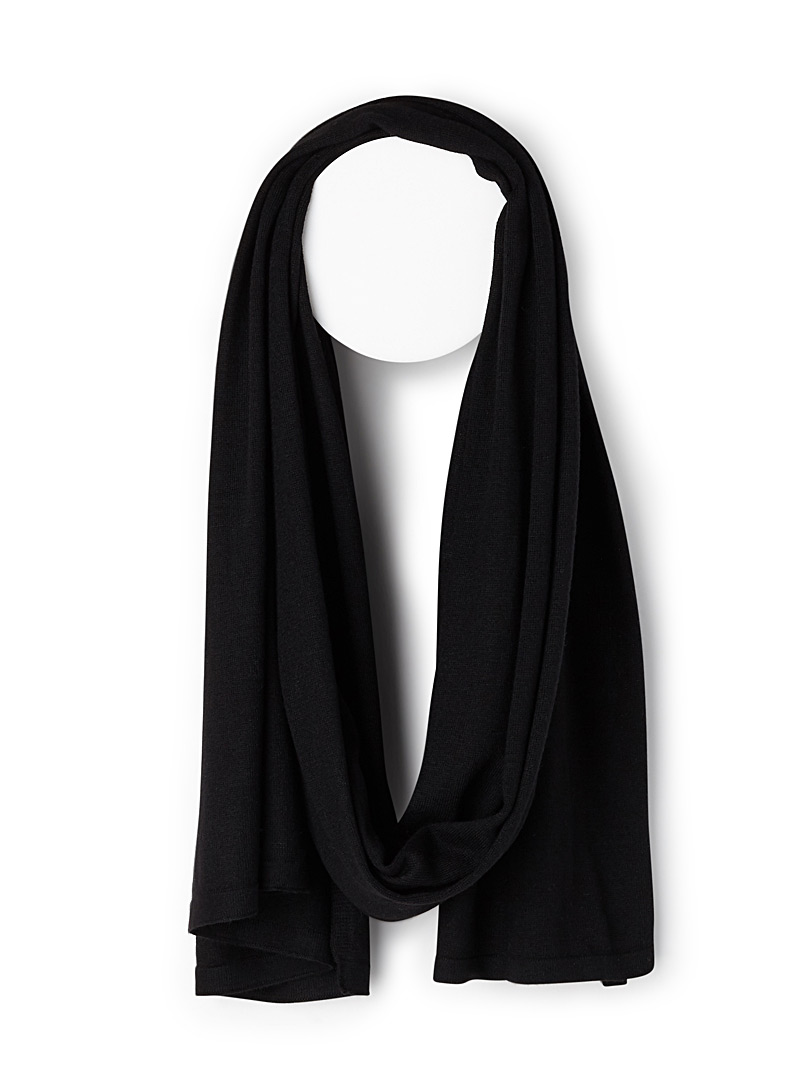 Heathered scarf - Light scarves - Black