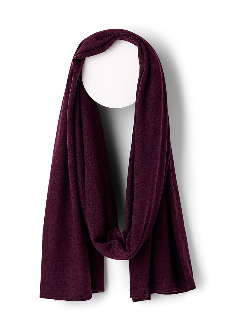 Heathered scarf - Light scarves - Medium Crimson