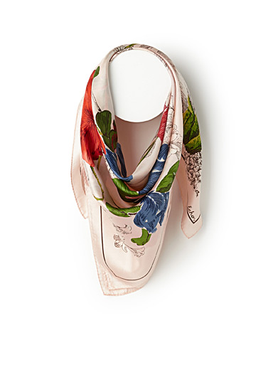 Painted floral scarf