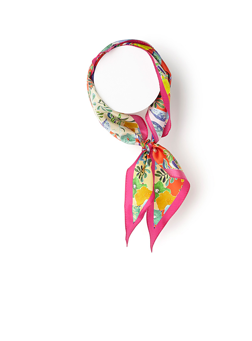 Tropical paradise neck scarf - Light scarves - Patterned Red