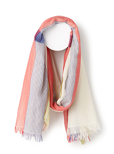 Softly-coloured scarf