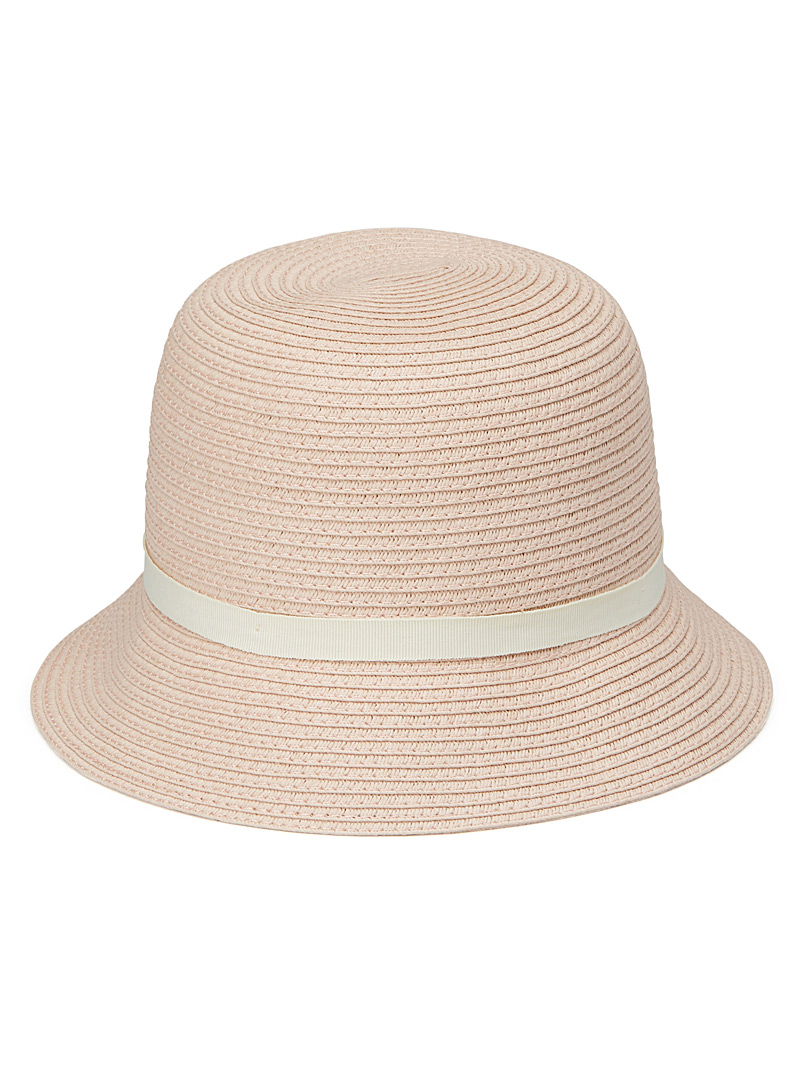 Contrast band feminine cloche - Hats - Pink