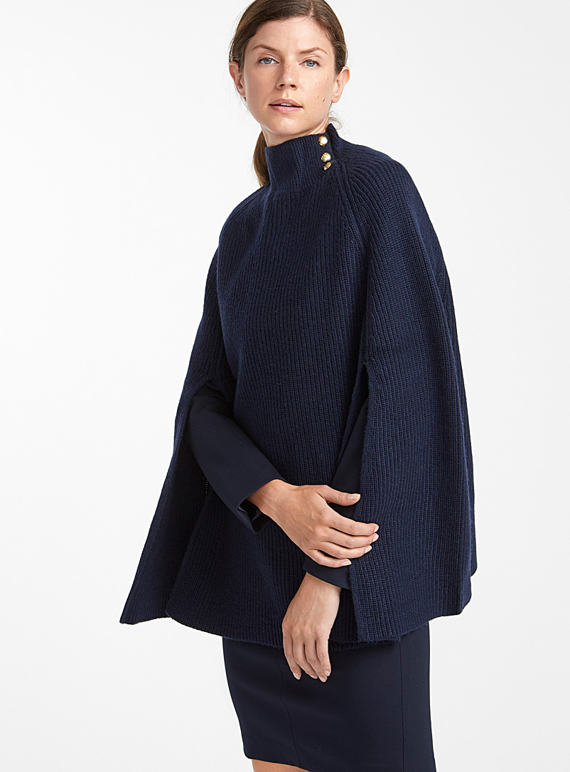 buttoned-poncho