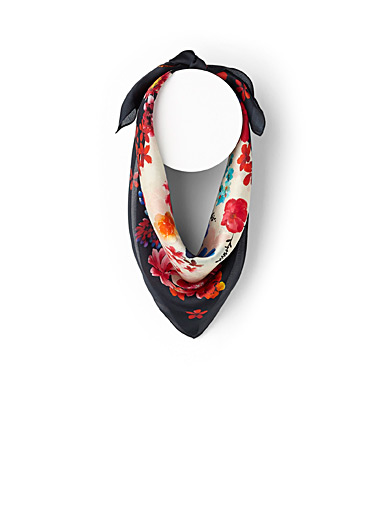 Floral notes scarf