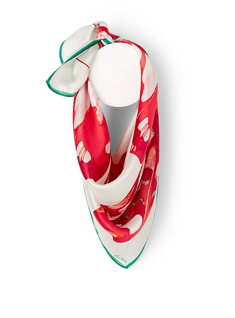 Echo Design Patterned Red Butterfly wings scarf for women