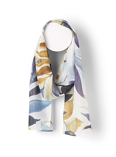Watercolour leaves scarf