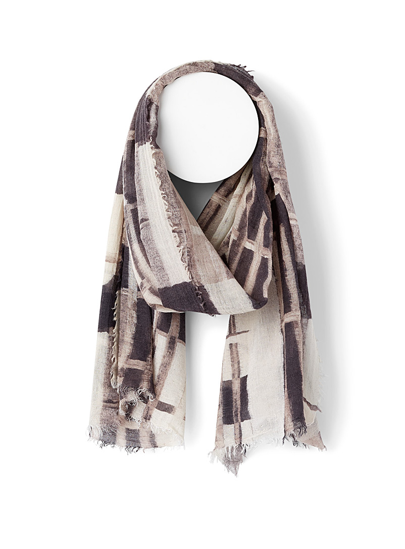 Geometric abstraction scarf