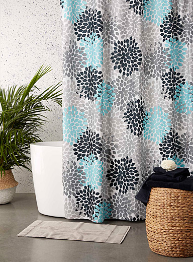 Modern petals shower curtain