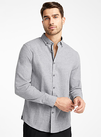 Chambray flannel shirt  Comfort fit