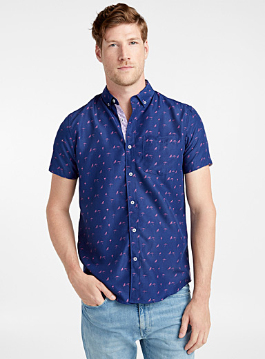 Flamingo beach shirt <br>Semi-tailored fit
