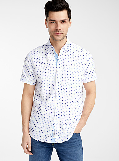 Indigo palm tree shirt  Comfort fit
