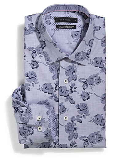 Chambray floral shirt  Tailored fit