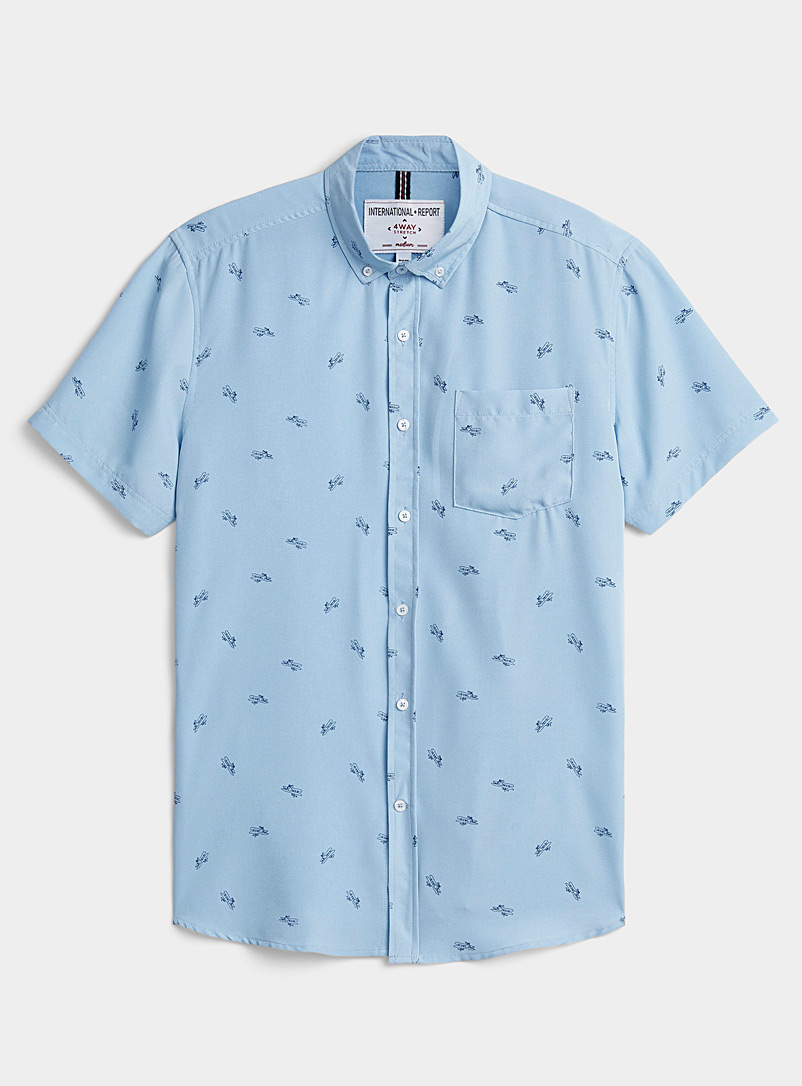 Report Collection Baby Blue Aircraft shirt Comfort fit for men