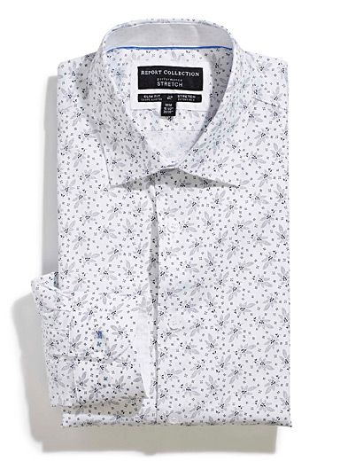 Dotted flower shirt <br>Tailored fit