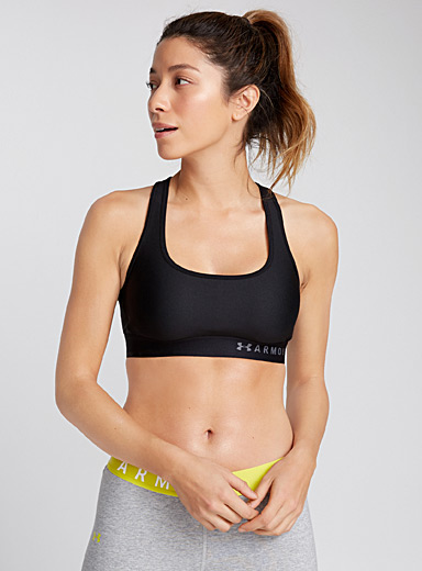 Crossed-band logo bra