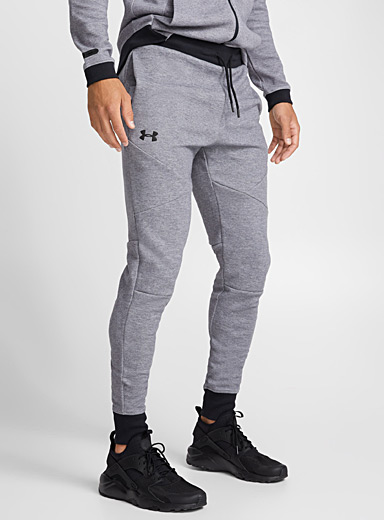 Heathered knit joggers