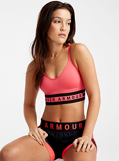 Under Armour Light Crimson Seamless longline bra for women