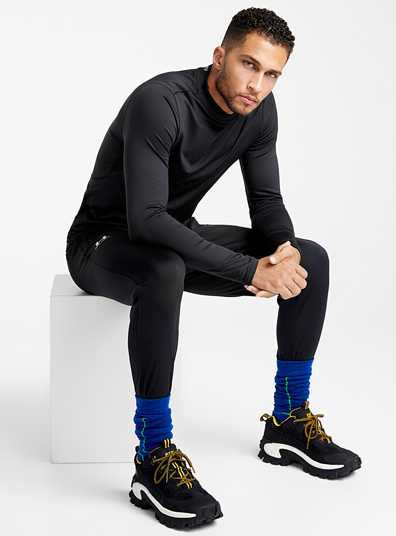 Contrasting heathered joggers - Running - Black