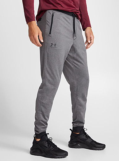 Contrasting heathered joggers