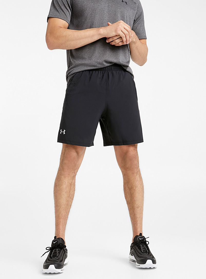 Under Armour Black Launch reflective logo short for men