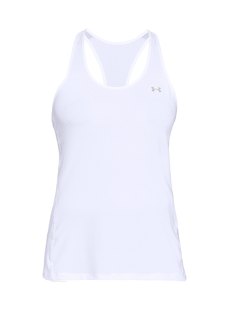 Under Armour White Armour Racer training tank for women