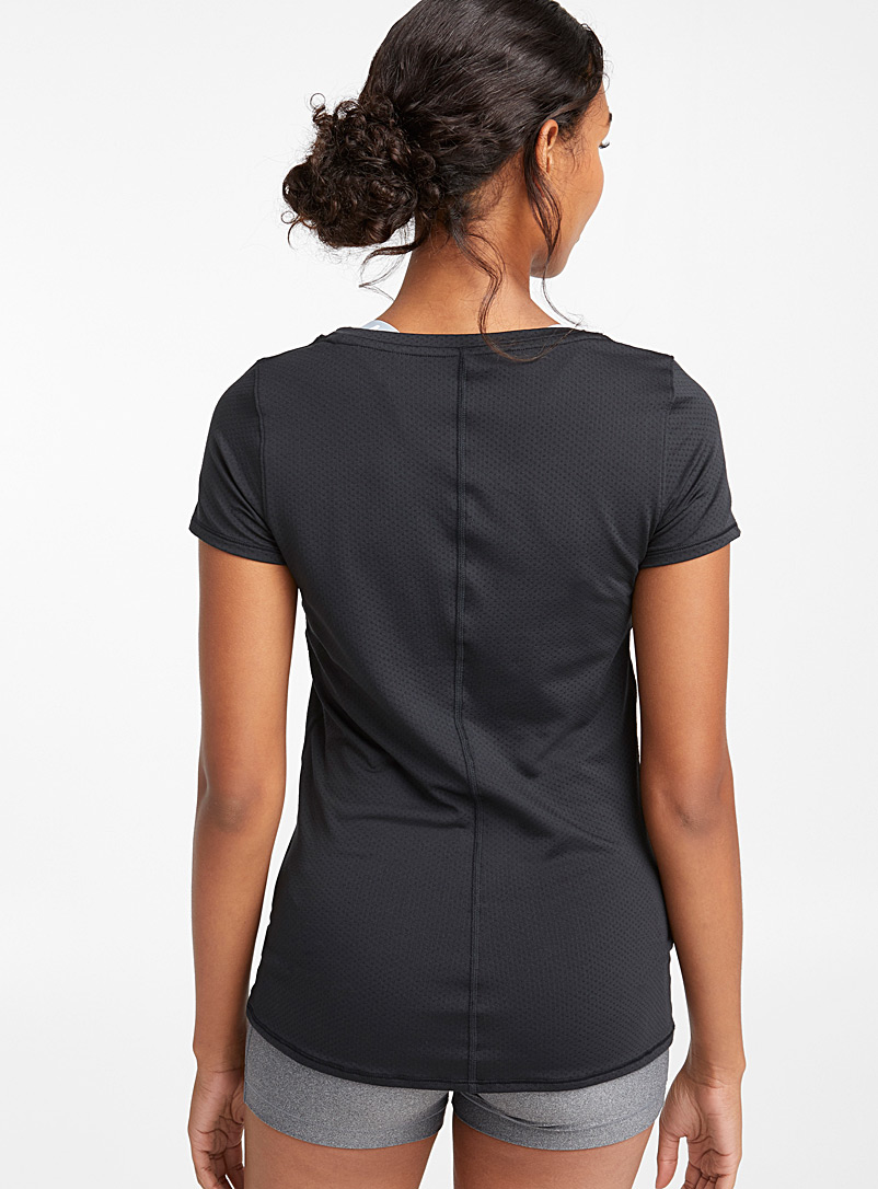 Under Armour Black Swiss tulle jacquard tee for women