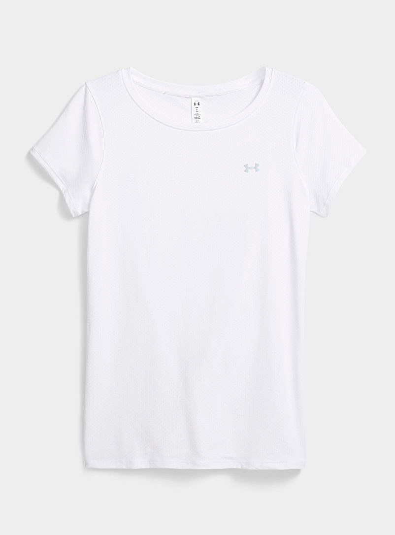 Under Armour White Swiss tulle jacquard tee for women