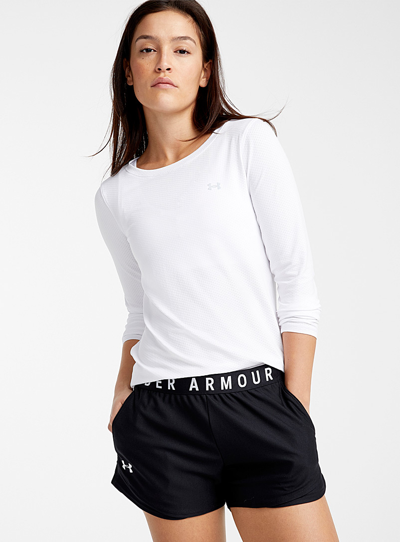 Under Armour White Armour long-sleeve tee for women