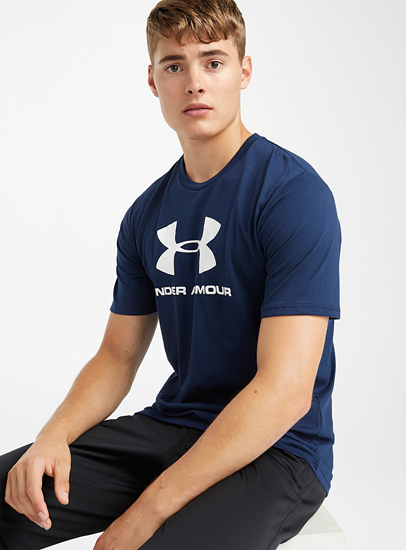 Sportstyle logo tee - T-shirts - Blue