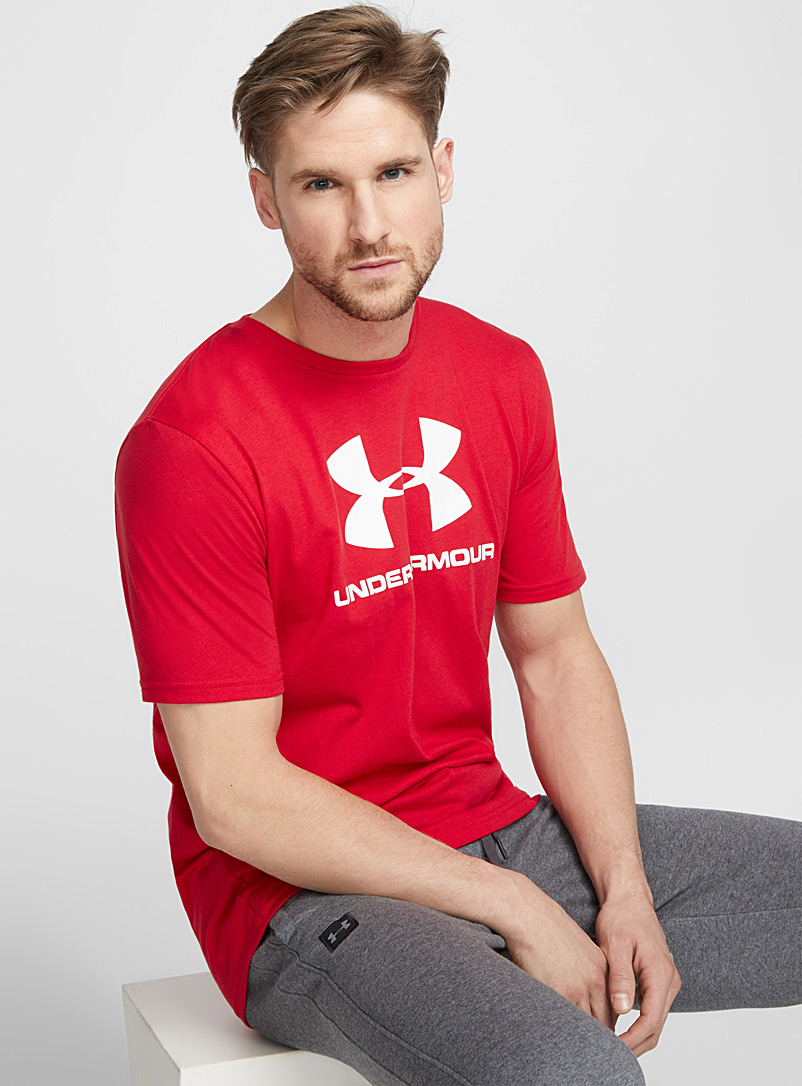 Sportstyle logo tee - T-shirts - Red