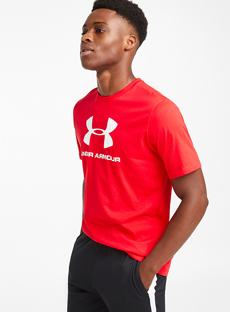 Sportstyle logo tee - T-shirts - Bright Red
