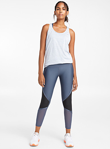 Le legging 3/4 angles multitextures