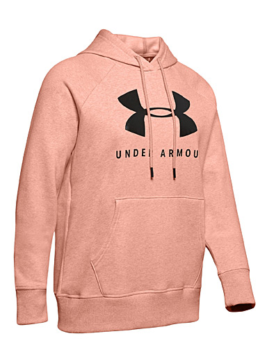 Under Armour: Le sweat à capuche maxi logo Pêche pour femme