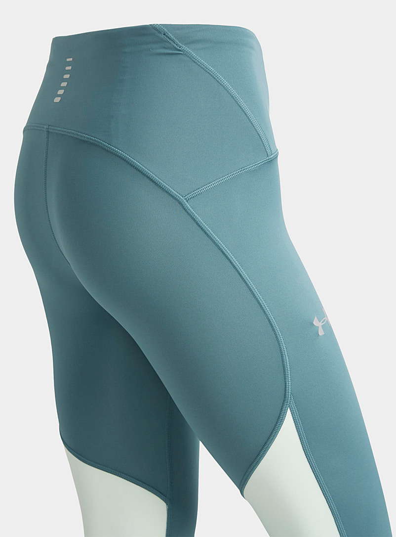 Under Armour Green Mixed media contrast cropped legging for women