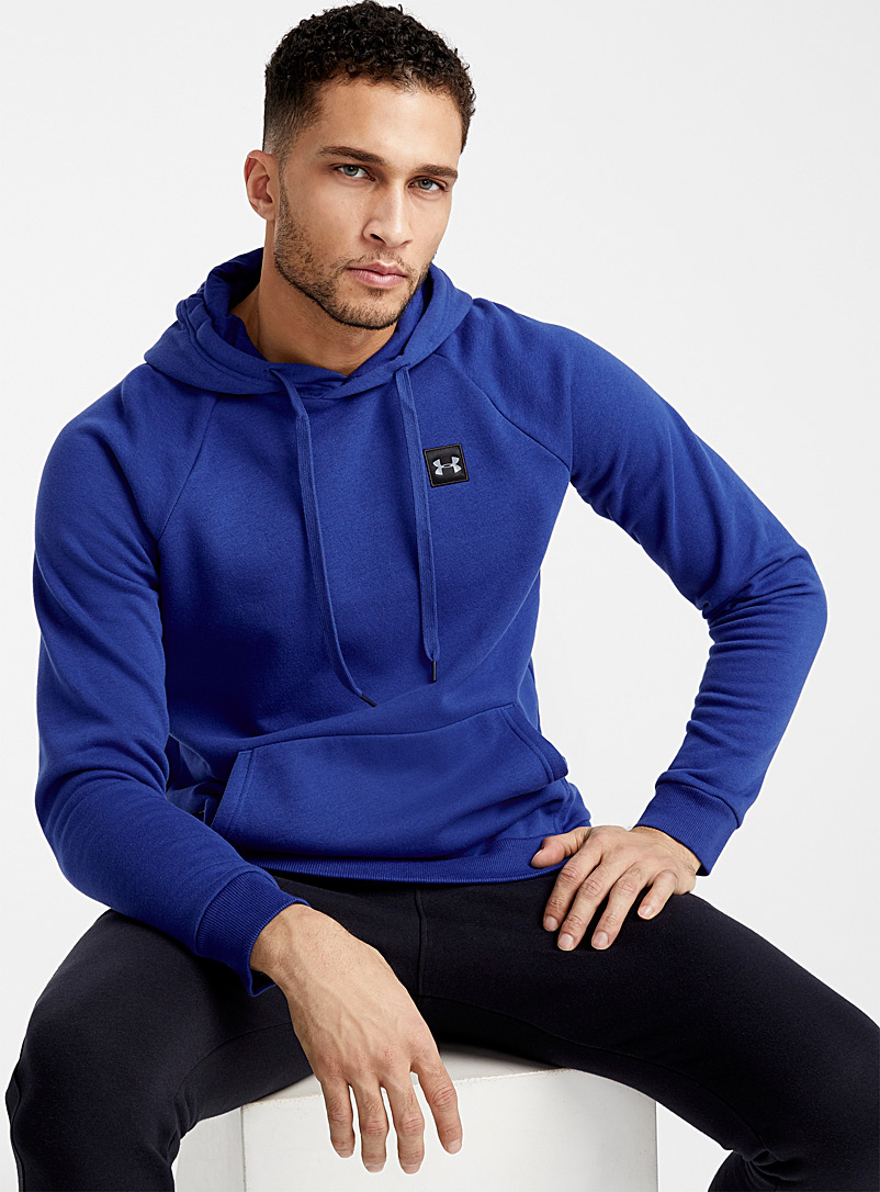 Under Armour Slate Blue Rival Fleece hoodie for men
