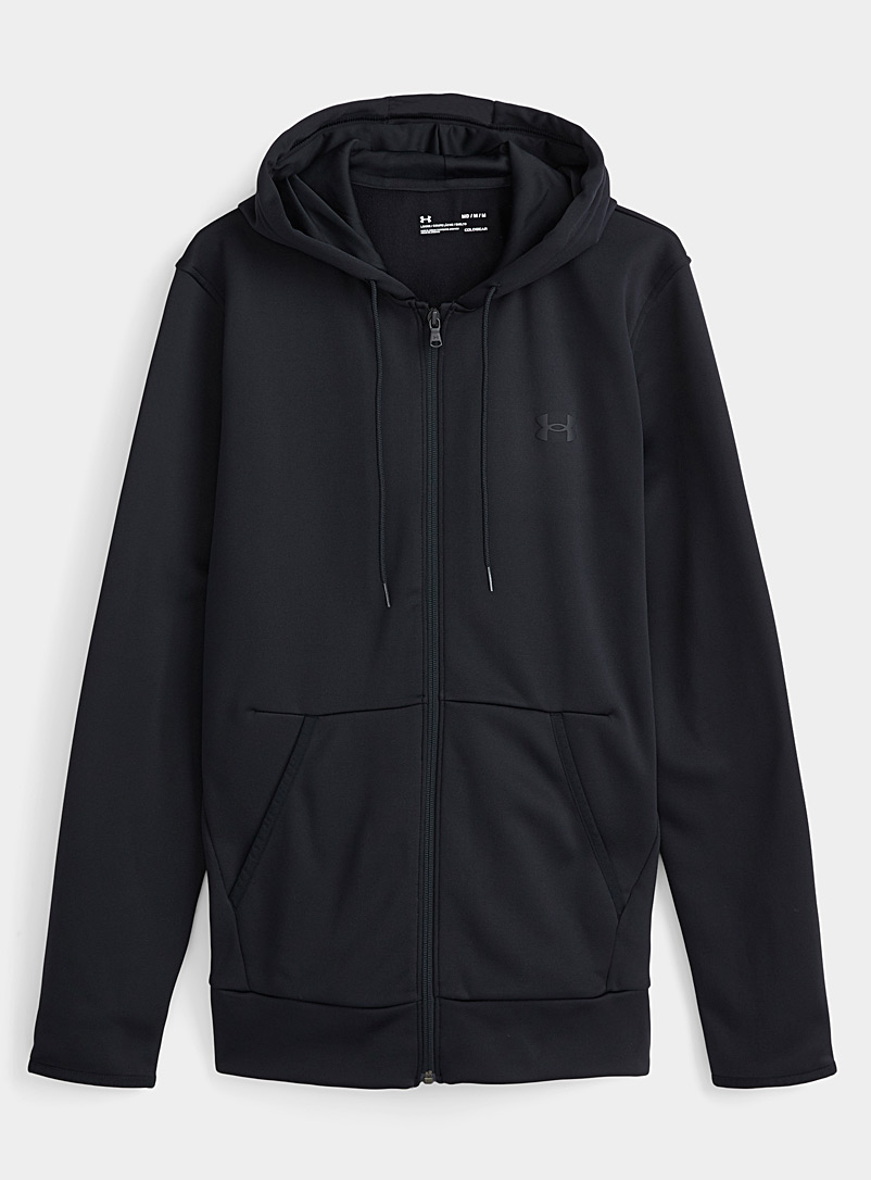 Le sweat zip à capuche revers polaire