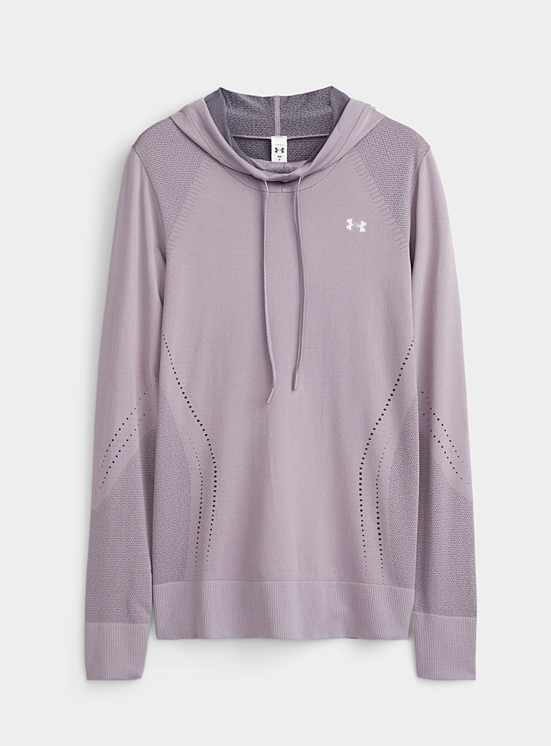 Silky jacquard hooded top