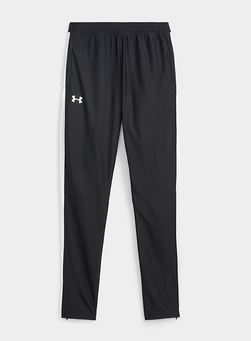 Under Armour Black Micro-mesh band joggers for men