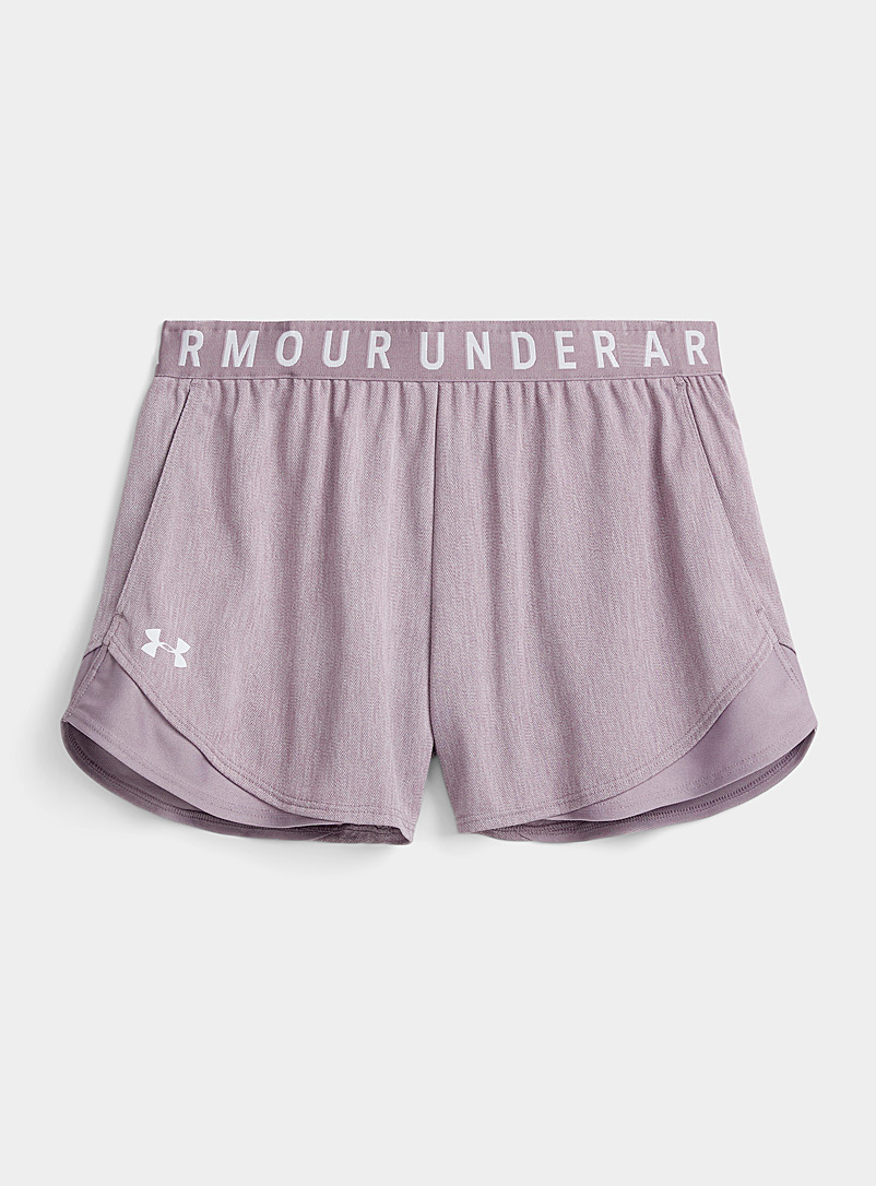 Under Armour Light Crimson Stretch heathered short for women