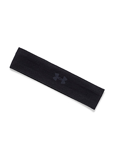 Under Armour Black Logo knit headband for women