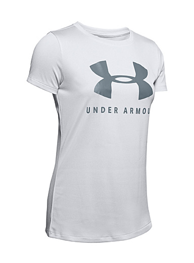 Under Armour Light Grey Soft neon microfibre tee for women
