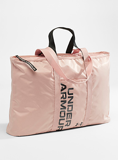 Under Armour Dusky Pink Metallic typographic tote for women