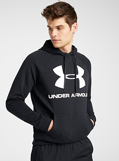 Under Armour: Le sweat kangourou Rival Noir pour homme