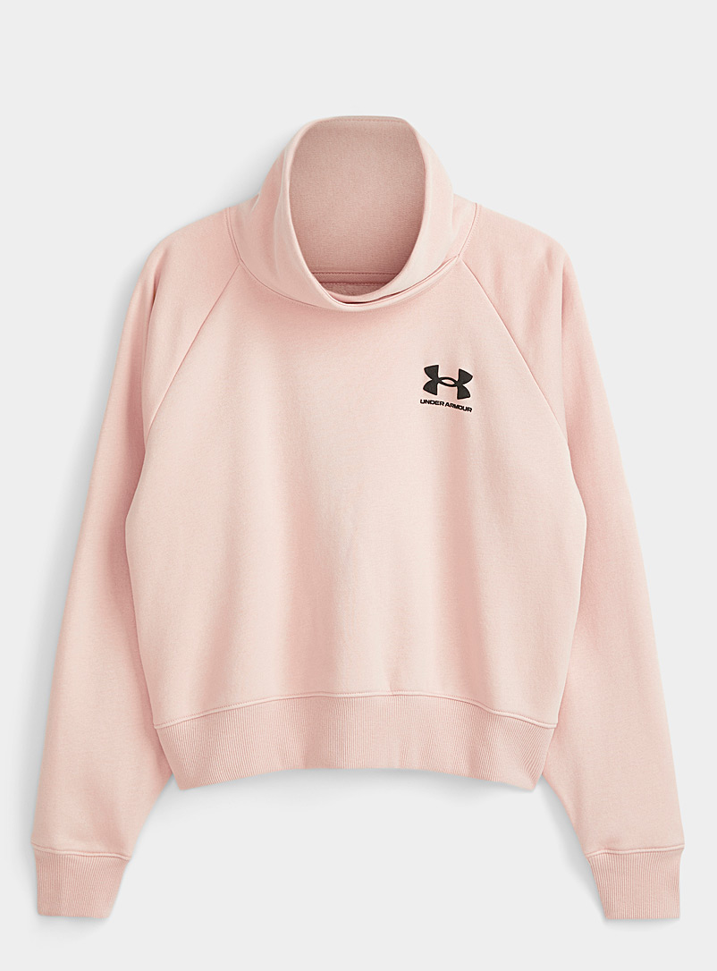 Under Armour Dusky Pink Cropped swan-collar sweatshirt for women