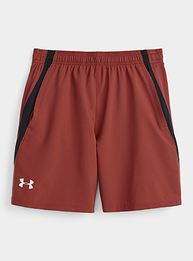Under Armour Ruby Red Launch reflective logo short for men