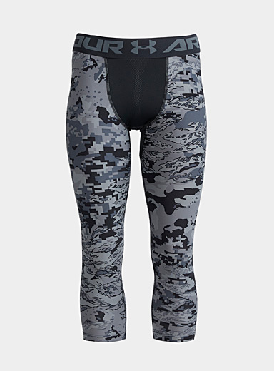 Under Armour Patterned Black Pixel camo compression leggings for men