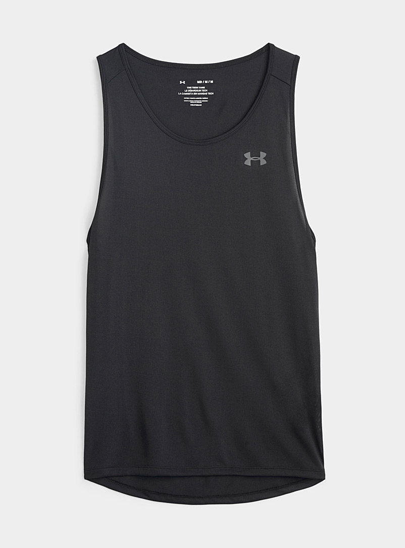 Under Armour Black Heather Tech tank top for men
