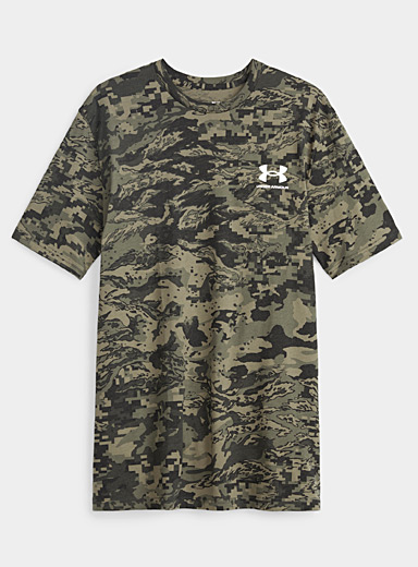 Under Armour Patterned Green Pixelated camo T-shirt for men